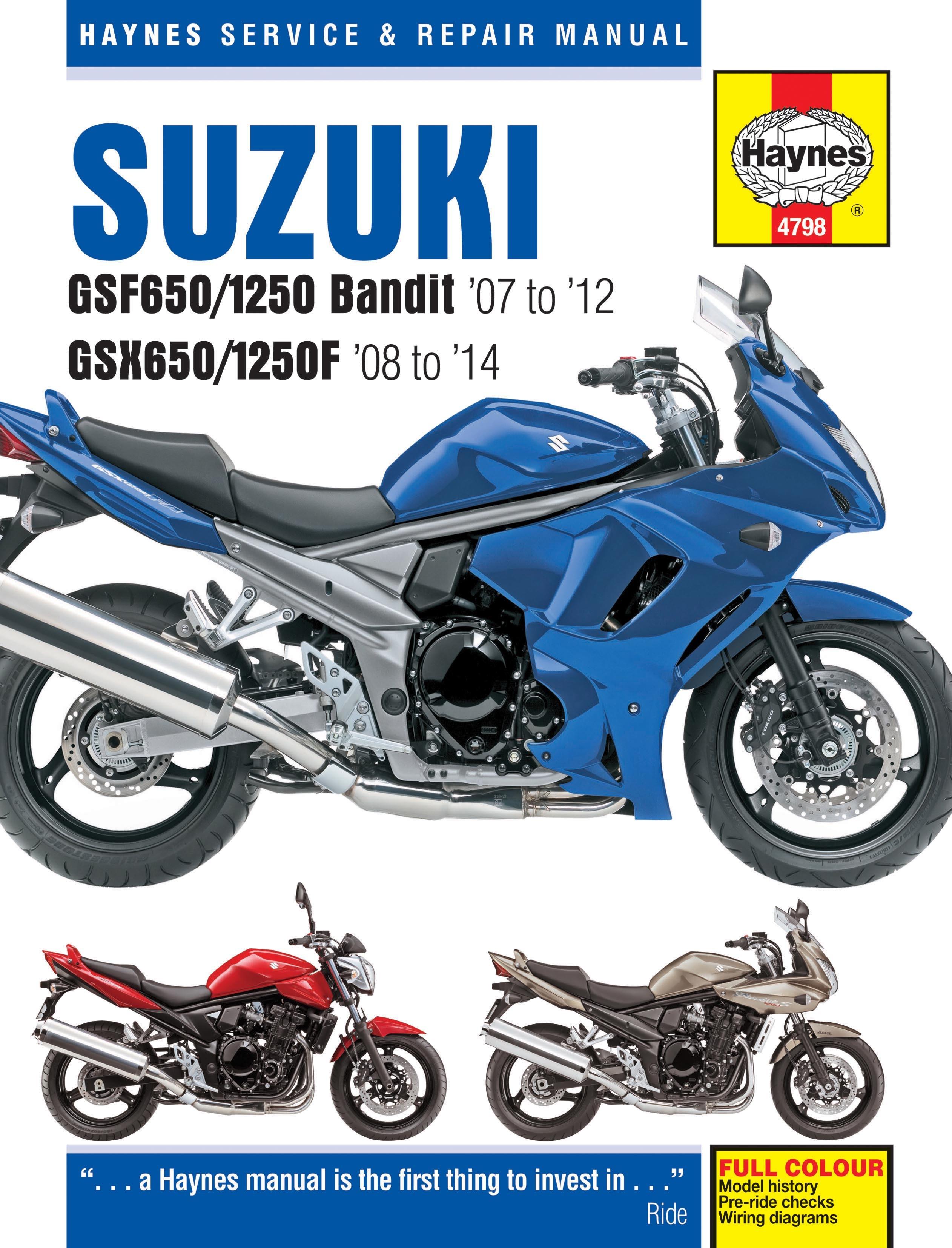 haynes manuals just bandits rh justbandits com suzuki gsx 1250 fa manual pdf suzuki bandit 1250 user manual