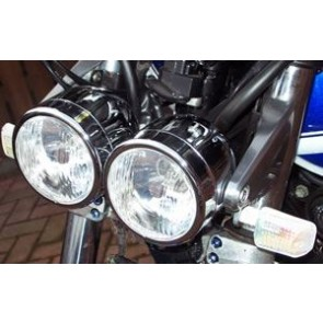 Twin Lamps Chrome